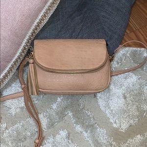 Handbags - Light pink nude leather crossbody